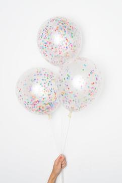 Confetti Balloons Tiny Rainbow Diy Set
