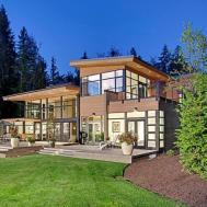 Contemporaine Belle Maison Familiale Seattle Vivons