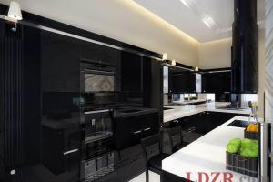 Contemporary Black Kitchen Cabinets Made Wood Home
