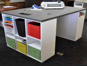 Contemporary Craft Desk Storage Colorful Fabric