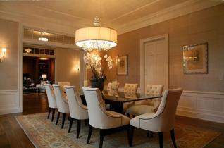 Contemporary Dining Room Design Round Oversized