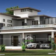 Contemporary House Architecture Roof Garden Kerala