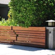 Cool Brick Wood Fence Ideas 7702