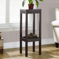Corner Table Design Black Wooden Frames