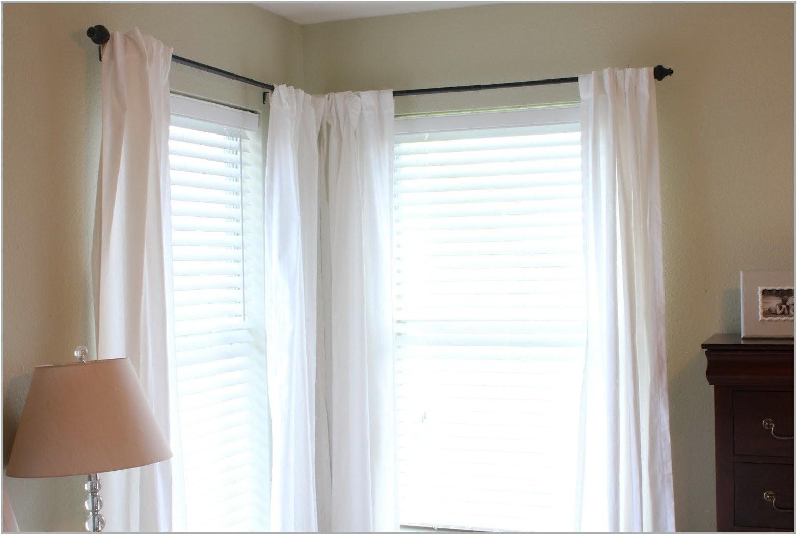 corner window curtain rod connector