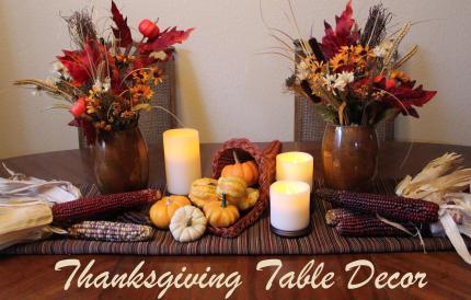 Cornucopia Creativity Diy Thanksgiving Table Decor