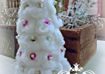 Cotton Ball Christmas Trees