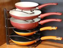 Counter Cabinet Pan Organizer Shelf Rack Kitchen