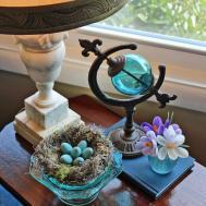 Craft Faux Bird Nest Robin Eggs