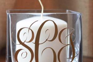 Crafty Texas Girls Diy Monogram Candle Holder