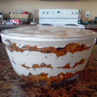 Crazy Old Ladies Quilts Thanksgiving Recipe Pumpkin Trifle
