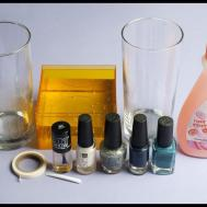 Create Beautiful Diy Marbleized Glass Using Nail Polish