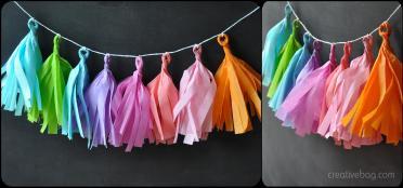 Creative Bag Blog Diy Tissue Paper Tassel Garlands
