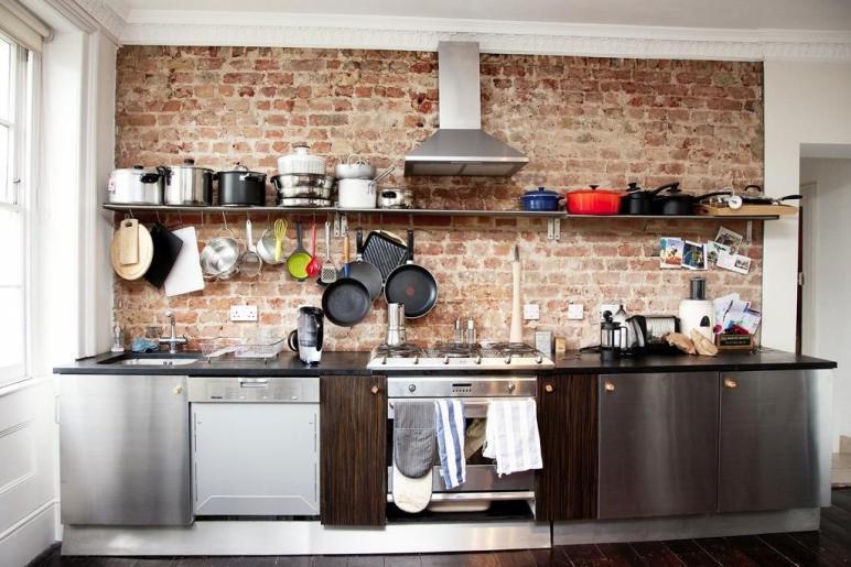 Creative Brick Wall Kitchen Design Ideas