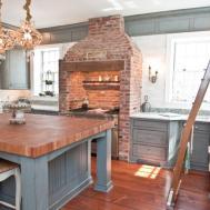 Creative Cute Exposed Brick Kitchen Ideas Round Decor