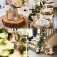 Creative Uses Wood Log Slice Wedding Decoration