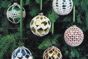 Crochet Christmas Ornament Covers Vintage Crocheting