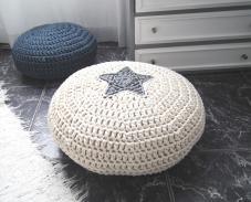 Crochet Floor Cushion Star Pillow Kids Pouf
