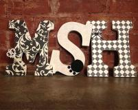 Custom Decorative Wooden Letters Lovelettersbyallifay