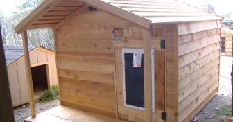 Custom Heated Insulated Dog House Extra Large