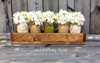Custom Made Rustic Planter Box Painted