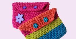 Cute Little Crafts Crochet Rainbow Coin Purse