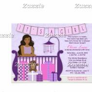 Cute Modern Mum Nursery Baby Shower Invite