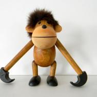 Danish Modern Bojesen Style Wooden Monkey Fur