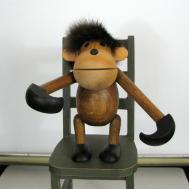 Danish Modern Kay Bojesen Monkey Hanging Fur