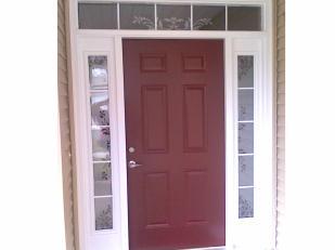 Dark Cherry Wood Front Door Double White Length