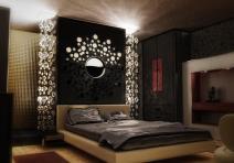 Dark Luxury Modern Bedroom Design Wall Lighting
