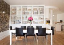 Dazzling Dining Room Designs Brick Wall