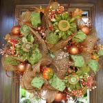 Deco Mesh Fall Sunflower Wreath Decoratorist 138806