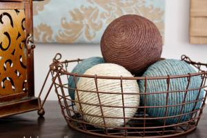 Decorate Home Part Hemp Ball Accents Make