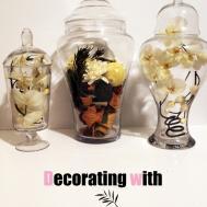 Decorating Apothecary Jars Blushing Black