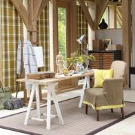 Decorating Mid Century Country Home Office Interior Design