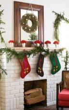 Decorations Stone Fireplace Mantel Decorating Ideas