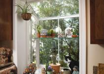 Decorations Window Garden Ideas Shelf