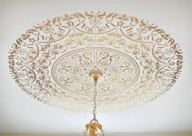 Decorative Stencil Georgian Ceiling Medallion Wall