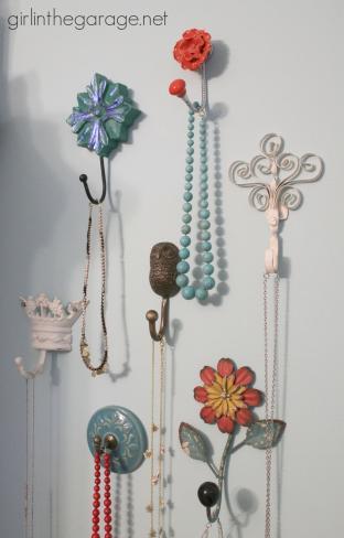 Decorative Wall Hooks Jewelry Storage Girl Garage