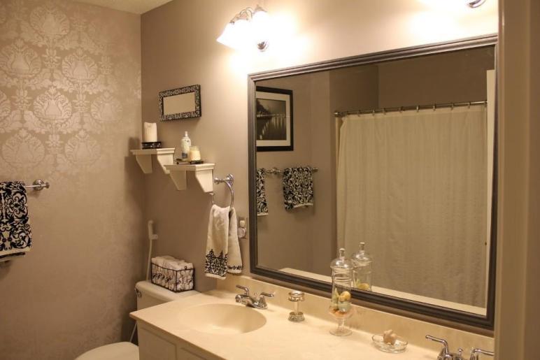 Delightful Large Framed Bathroom Mirrors
