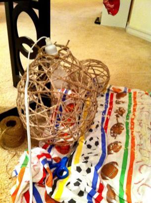 Design Devotee Diy Jute String Chandeliers
