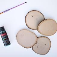 Design Evolving Diy Wood Slice Coasters