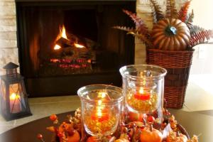 Dining Delight Fall Coffee Table Centerpiece