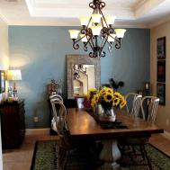 Dining Room Gray Wall Ideas Yellow Tile Pattern