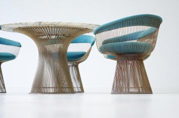 Dining Table Side Chairs Warren Platner Knoll