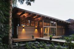 Dise Casa Madera Una Planta Construye Hogar