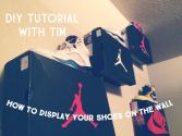 Display Your Shoes Wall Tutorial