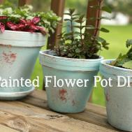 Distressed Painted Flower Pot Diy April Bern