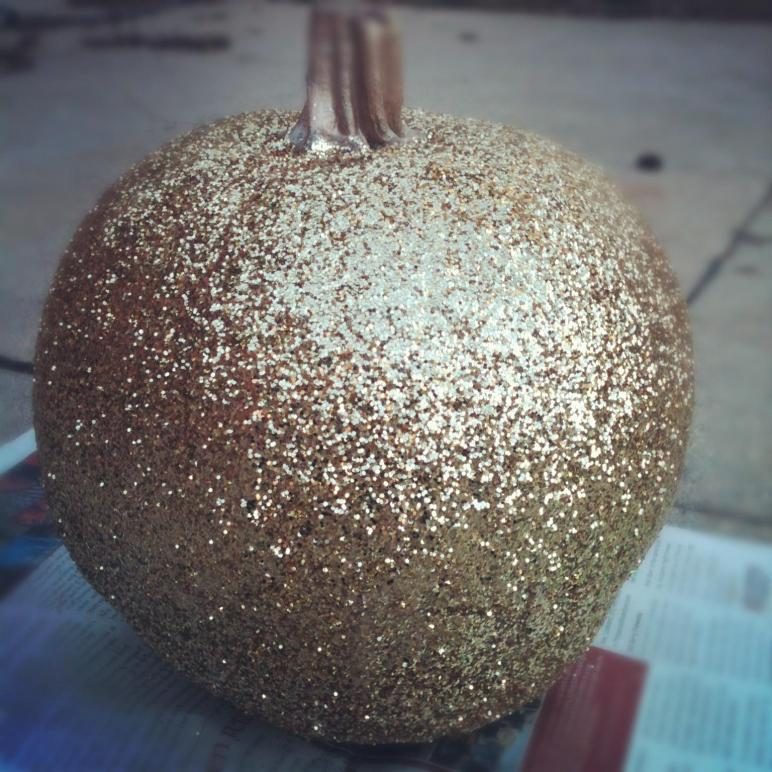 Diy 24k Glitter Pumpkin Modern Martha